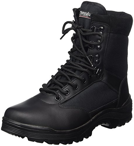CHAUSSURES MONTANTES BOOTS SWAT CUIR NOIR 3M THINSULATE MILTEC 12827000 AIRSOFT POINTURE 43