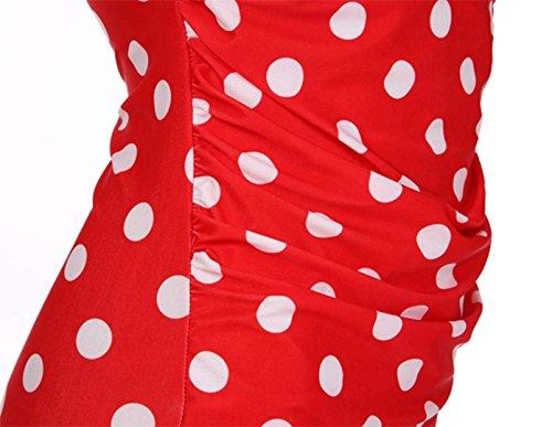 Sexy Damen Tankini Dot Monokini Badeanzug Bademode bandeau Bikini Rot