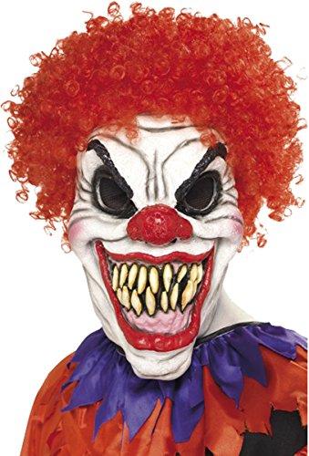 Unisex Erwachsene Halloween Fancy Party Zubehör Gesichtsmaske Horror/Evil/lustiges Face Maske Gr. Einheitsgröße, Scary Clown Mask Foam (Zubehör Clown Scary)