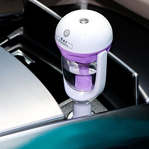 Preisvergleich Produktbild Mini Auto Luftbefeuchter 50ml, MIRI Car Aroma Diffuser Luftbefeuchter Ultraschall Lufterfrischer Luftreiniger - Lila