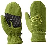 Jack Wolfskin Kinder Handschuhe Fleece Mitten, Earl Green, 128