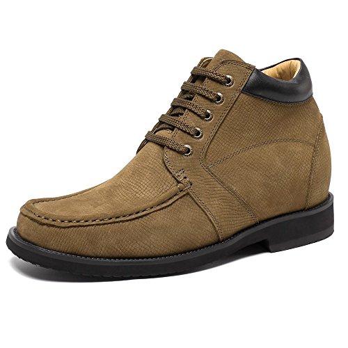 CHAMARIPA Elevador Zapatos Para Hombre Negro Oxford Con Cordones Vestido Inteligente Altura Creciente Zapatos - 2.95 Pulgadas Taller - K4020 (44 EU, Negro)