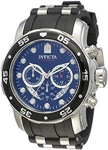 Invicta 6977 - Reloj cronógrafo de caballero de cuarzo con correa de goma negra de Invicta