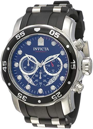 Invicta 6977 Pro Diver - Scuba Herren Uhr Edelstahl Quarz schwarzen Zifferblat (Ihr Invicta Für Uhren)
