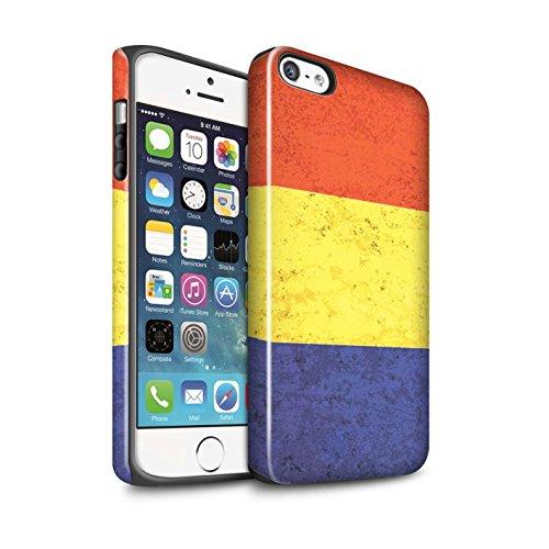 STUFF4 Glanz Harten Stoßfest Hülle / Case für Apple iPhone 7 / Russland/Russische Muster / Flagge Kollektion Rumänien/Rumänisch
