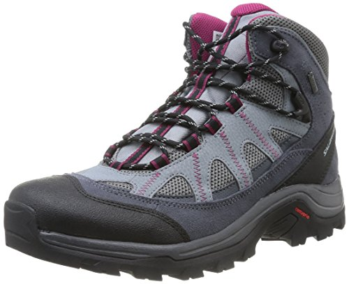 Salomon Authentic LTR GTX Damen Trekking- & Wanderstiefel, Grau, EU 42.7 Purple Rain Boot