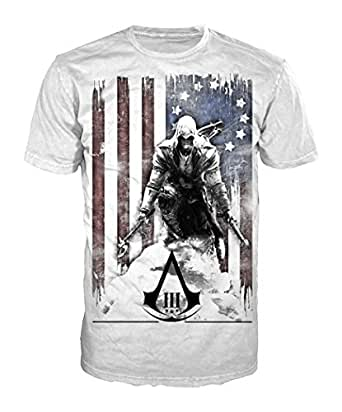 Assassin's Creed III -XL- White, Burned Flag