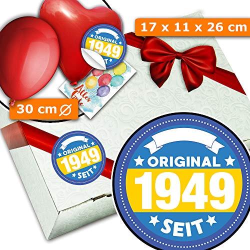 Original seit 1949   Geschenkbox mit Schleife   70ten Geburtstag Geschenke