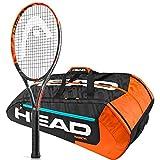 Head Graphene XT Radical Pro 16x 19Schläger, Bundle mit einer Head Radical Serie Tennis Bag, 12R Monstercombi