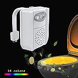 LED Toilette Nachtlicht,Etopfashion Bewegungssensor Toilette Nachtlicht mit UV sterilisator und PVC Duft Scheibe, 16 Farbänderungs Modi, Fit jede Toilette (Aromatherapy)