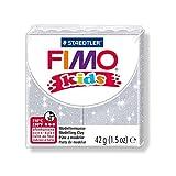 1Brot Pate Fimo kids Silber Hat Pailletten 42g Ref 8030–812