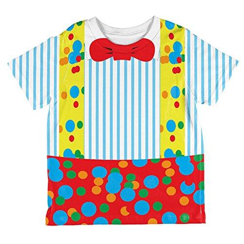 Halloween Clown Kostüm aller Kleinkind T Shirt Multi 6 (Kleinkind Clown Junge Kostüme)
