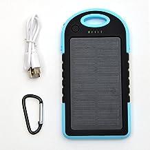 APOLLO 6000mAh Solar Powerbank Kopenhagen, das externe Outdoor Solar-Ladegerät mit dualem USB-Port, die ideale Backup-Batterie für Ihr Handy, Smartphone, iPhone, Lautsprecher, iPad, Tablet usw. Farbe: Blau