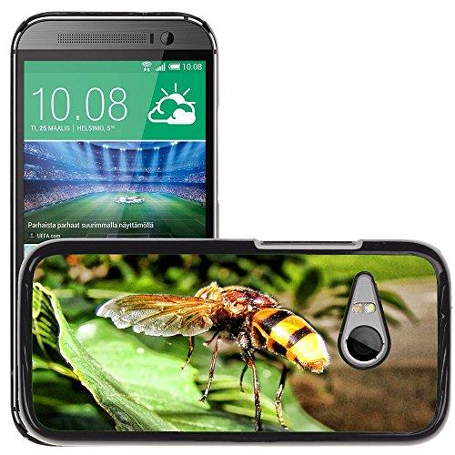 Carcasa Funda Prima Delgada SLIM Casa Case Bandera Cover Shell para // M00130125 Vespa Insect Yellow Jacket Sting // HTC One Mini 2 / M8 MINI / (Not Fits M8)