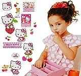 Unbekannt 15 TLG. Set _ Fensterbilder -  Hello Kitty  - Sticker Fenstersticker Aufkleber - selbstklebend + wiederverwendbar - Fensterbild / z.B. für Fenster und Spieg..