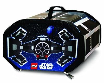 LEGO A1436XX - Alfombra de juegos y caja de almacenaje 2 en 1 con diseño de caza TIE Avanzado x1 de LEGO Star Wars de LEGO