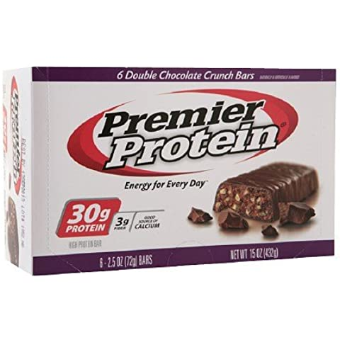 Premier Nutrition High Protein Bar Double Chocolate Crunch 6 per box - 2.5 Oz (72g) by Premier Nutrition