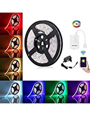 HomeMate® Wi-Fi Multicolour Smart LED Strip Kit, Waterproof IP65, Compatible with Alexa, Google home and IFTTT