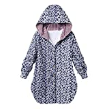 Soupliebe Damen Winter Warm Outwear Blumendruck Plaid Mit Kapuze Taschen Oversize Mäntel Jacken Sweatjacke Parka Winterjacke Fleecejacke Steppjacke
