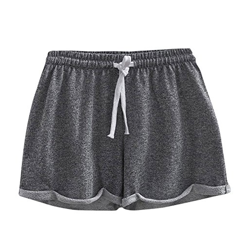 Routinfly 2019 Neue Damen Solide Shorts,Frauen Sommer Kausal Sexy Home Kurze Shorts Hosen Fitness Hosen Sport Gym Laufen Yoga Athletic Pants Laufhose - Stricken Gym Short