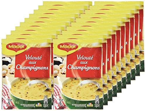 Maggi Soupe Instantanée Velouté aux Champignons et sa touche de crème fraîche 20 x 67g