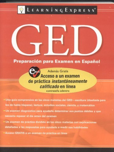 GED Preparacion Para Examen En Espanol (GED Test Prep) by LearningExpress LLC Editors (2009-03-16) par LearningExpress LLC Editors