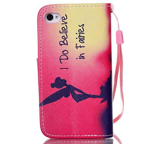 8dbcb83a3e Ukayfe Custodia iphone 4/4S in Pelle, Portafoglio / wallet / libro Flip  elegante e di alta qualità con porta carte di credito e banconote ...