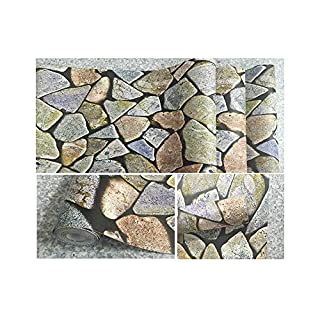 Three-Dimensional Waterproof self-Adhesive Wallpaper Restaurant Personalized Stickers Decorative self-Adhesive Wallpaper Living Room Wall Stickers (Colored Stones)