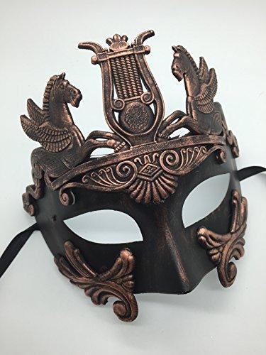 Four-Seasonstore New Roman Hercules Herren Maske Antike Griechische Masquerade Maske Bronze