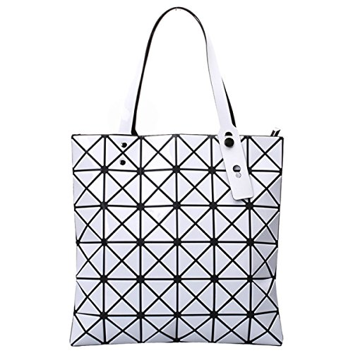 Lässig Geometrische Tasche Handtasche Damen Lingge Mode White RIwtIqS