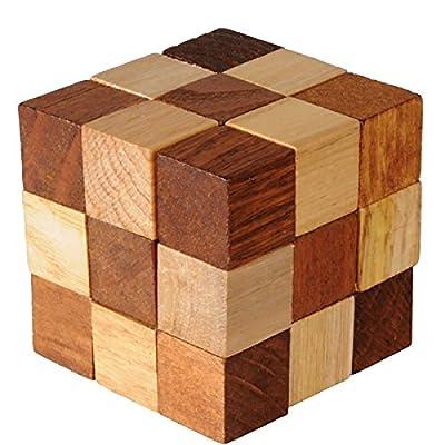 Fridolin - 17661 - Jeu fait en bambou - Soma cube - 7 pièces