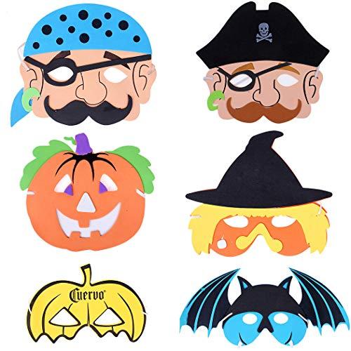 ZOYLINK 6 StÜcke Halloween Maske Kreative Verschiedene Cartoon Party Maske Kostüm Maske für Kinder