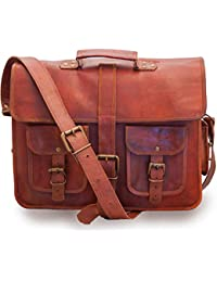 NeoFeral New 100% Original Brown Leather Messenger Bag Vintage Handmade Leather|Laptop Bag|MacBook|Pro MacBook...