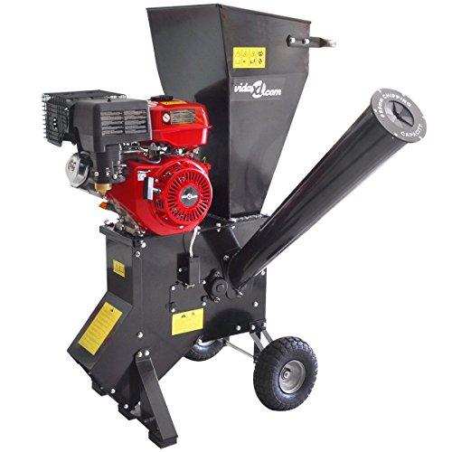 vidaXL Benzin Gartenhäcksler 13 PS Holzhäcksler 89 mm Motorhäcksler Schredder