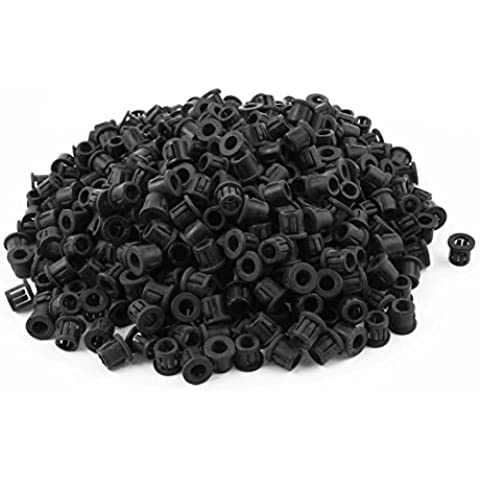500pcs SB-10 de 9,5 mm Orificio de montaje del protector de cable de nylon Snap buje
