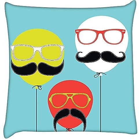 Movember Ballon Home Decor Werfen Sofa Auto Kissenbezug Kissen Fall 40,6x 40,6cm (Velvet Ballon-)