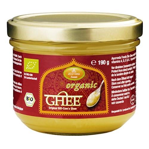 Ayurveda Foods Organic Premium Bio Ghee 190g 6er Set Sehr Lange Haltbarkeit Bio Siegel Brat Und Kochfett Enthlt Vitamine A D E K