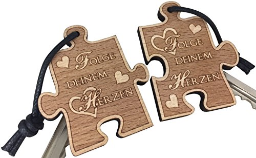 Schlüsselanhänger Puzzle Folge Deinem Herzen sehr Gute Qualität für Partner Anhänger Liebe Partnergeschenk