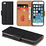 Aicoco Coque iPhone 5, Coque iPhone 5S, Étui Housse en Cuir Flip Case...