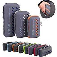 Eono by Amazon - Microfiber Towel, Perfect Sports & Travel & Beach Towel, Fast Drying - Super Absorbent - Ultra Compact. Suitable for Camping, Gym, Beach, Swimming, Backpacking