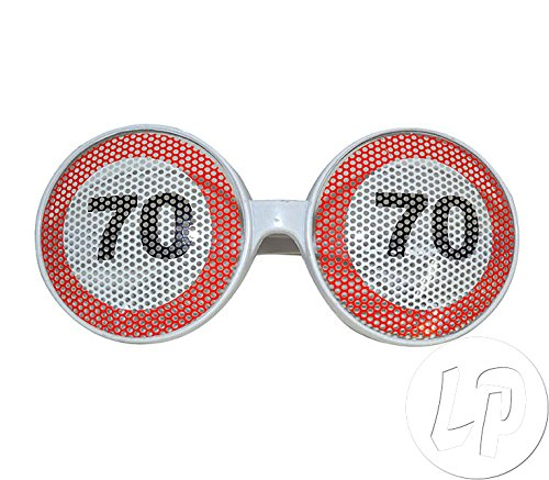 Gafas de cumpleaños 70 límite de velocidad