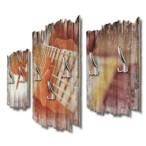 Kreative Feder Young Schwinn Design DTGH055 - Perchero de Pared (95 x 60 cm, Tablero DM), diseño de Guitarra