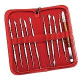 10 Stück Set Edelstahl-Dentallabor-Ausrüstung, die zahnärztliche schnitzen Tool Kit-Wachs Zahnarzt Instrumente-Tool-Kit Set