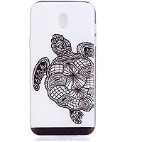 Cozy Hut Samsung Galaxy J7 2017 Hülle, [Liquid Crystal] Soft Flex Silikon [Crystal Clear] Transparent Ultra Dünn Schlank Bumper-Style Handyhülle Premium Kratzfest TPU Durchsichtige Schutz