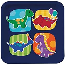 Little Dino Party - Dinosaur Themed Party Dinner Plates x 8 by Creative Converting