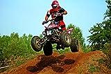 Wandbild 1200 x 690mm Quad Cross Fototapete Poster XXL Tapete Rennen Sport Motocross WA56
