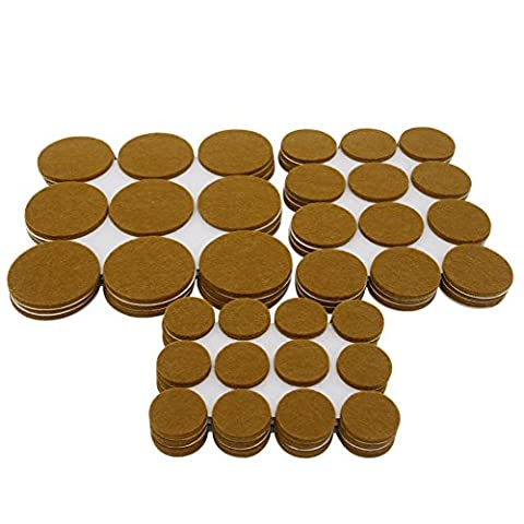 Furniture Felt Pads - Premium Quality - For Hard Floor Protection, Wood, Laminate, Tile, Vinyl, Marble, Concrete - No glue or nails, Chair Feet Pads ( 99 Pieces) 1.96 inch:27 ,1.5 inch:36 ,1inch:36.BY FLERISE
