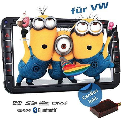 2DIN Autoradio CREATONE VW7000 mit GPS Navigation (Europa), Bluetooth, 8 Zoll (20cm) Touchscreen, DVD-Player und USB/SD-Funktion für Golf 5, Golf 6, Passat B6, Passat B7, Passat CC, Touran, Caddy, Jetta, Polo 5, Scirocco, Tiguan, T5 Transporter, T5 Multivan, Beetle, Sharan 2, Amarok (Touchscreen-radio, Dvd-player)