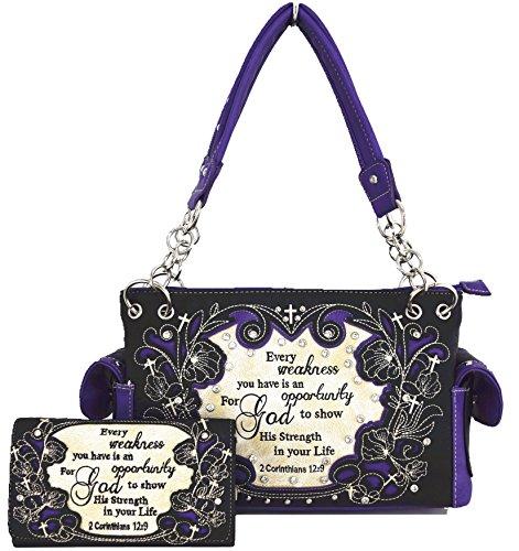Blancho Biancheria da letto delle donne in pelle [Squisito occidentale] PU borsa elegante di modo Borsa Viola Combo-Viola