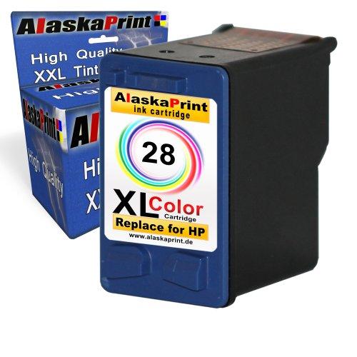 Preisvergleich Produktbild Premium kompatible Tintenpatrone als Ersatz für HP 28 XL Color Farbig für PSC 1215 1310 1317 1315 1315v 1315XI Officejet 4212 4215xi 4255 4215 Druckerpatrone 1x28-hp